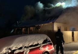в Нарве сгорел жилой дом