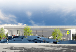 Архитектурный конкурс на строительство магазина Lidl выиграло бюро Molumba OÜ