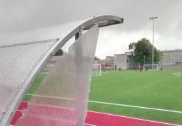 На новом стадионе в Нарве уже произошел акт вандализма