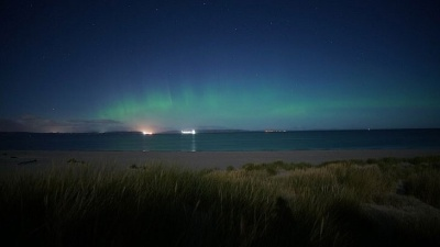 Северное сияние и лунная радуга