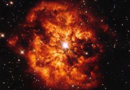 Астрономы обнаружили гигантскую красную звезду