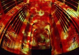 Световые проекции в Кембридже Miguel Chevalier