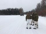 ФОТО: БТР Вируского пехотного батальона опрокинулся в кювет