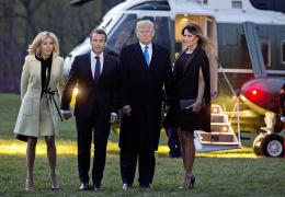 Мелания Трамп устроила праздничный ужин в честь приезда Макрона