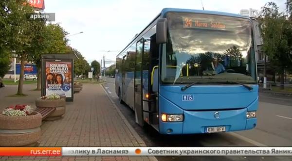 Водители автобусов в Нарве требовали повышения зарплаты и составления нормального графика движения