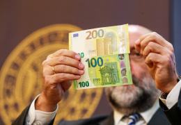 Банк Эстонии представил новые купюры 100 и 200 евро