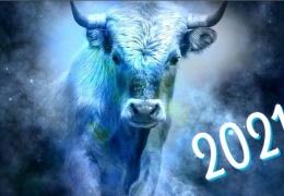 Белый металлический бык - символ 2021 года