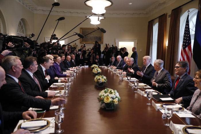 Президенты стран Балтии встретились с Дональдом Трампом