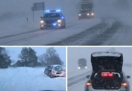 Полиция обращает внимание на сложные погодные условия на шоссе Таллинн - Нарва