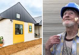 Бездомный мужчина первым в мире поселился в доме, напечатанном на 3D-принтере