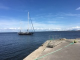 """ФОТО и ВИДЕО: парусник """"Адмирал Беллинсгаузен"""" сделал остановку в Силламяэ"""
