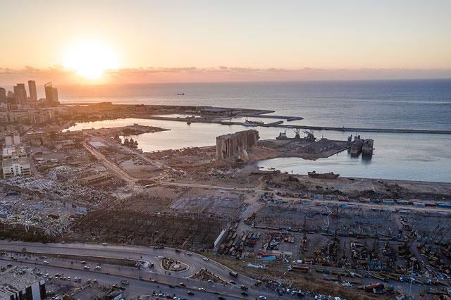 Порт Бейрута после мощнейшего взрыва. Аэрофотосъемка и спутниковые снимки