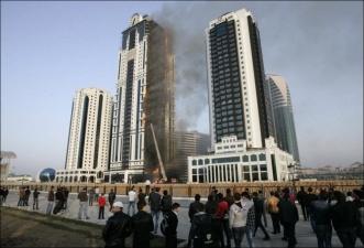 """Названа причина пожара в """"Грозный-Сити"""""""