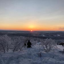 Жители Мурманска встретили первый рассвет после долгой полярной ночи
