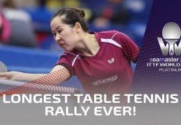 На мировом турнире по настольному теннису установлен новый рекорд
