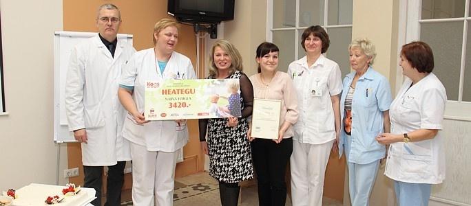 Покупатели Selver помогли детскому отделению больницы