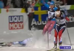 Шведская лыжница Нильссон в полуфинале ЧМ сбила россиянку и не стала жать ей руку