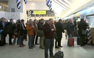 Работа Таллиннского аэропорта нарушена из-за вынужденной посадки самолета SmartLynx Airlines