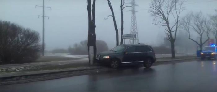 Произошла авария на перекрёстке улицы Раху и Таллинского шоссе