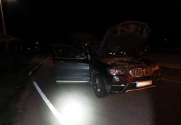 Полиция с помощью ежа остановила прорвавшийся через границу автомобиль с наркотиками