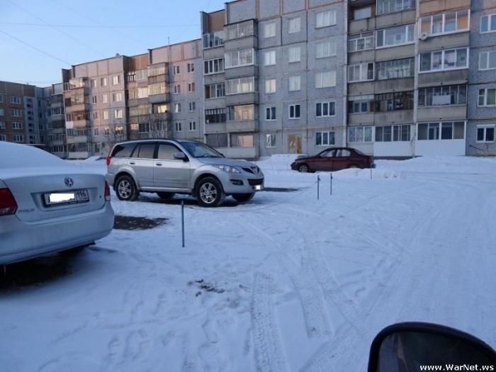 Захват парковок по-уральски