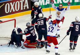 Россияне разгромили американцев на чемпионате мира по хоккею