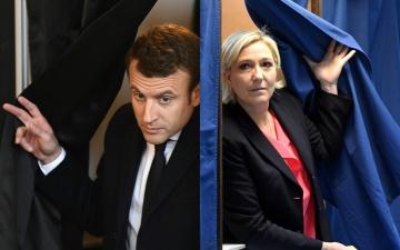 СМИ: Макрон значительно опережает Ле Пен на выборах президента Франции
