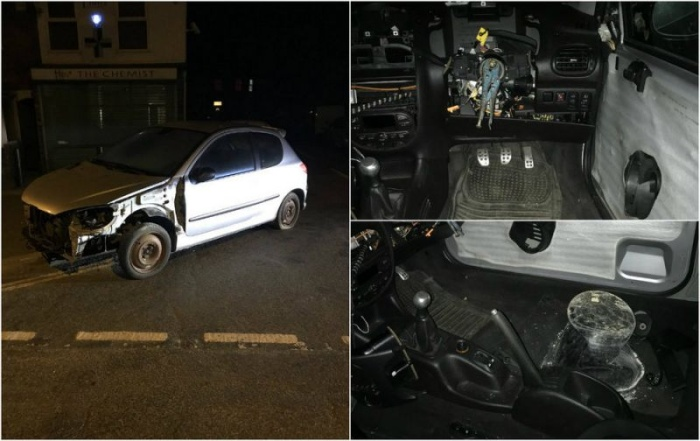 Британские полицейские остановили авто без руля и водительского сиденья
