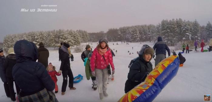 Народные зимние забавы в Нарве