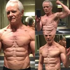 68-летний дедушка со стальным прессом