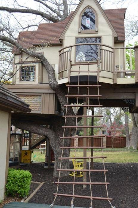 Домик для внуков на дереве