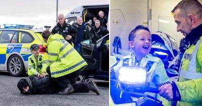 Полицейские исполнили мечту больного раком мальчика
