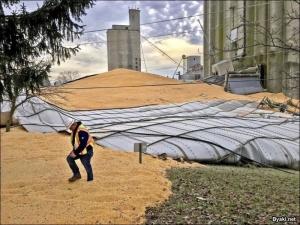 У вас зернохранилище развалилось