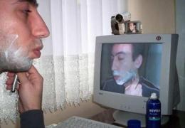 Зеркало настоящего компьютерщика.