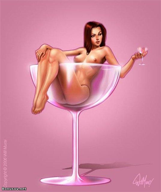 Рисунки красивых голых женщин