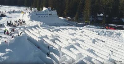 В Польше открылся самый большой в мире снежный лабиринт