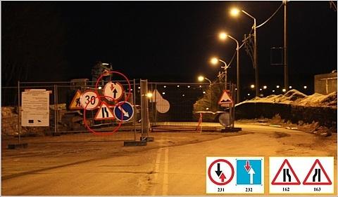 В Нарве дорожные знаки продолжают ставить «по-нарвски»