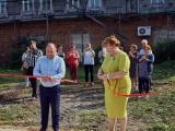 Торжественная церемония открытия мусорной площадки