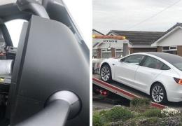У новенькой Tesla Model 3 на ходу отвалилось рулевое колесо, но всё обошлось