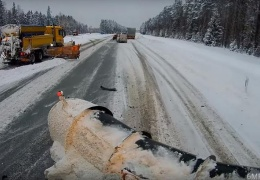 Трудовые будни эстонских дорожных служб