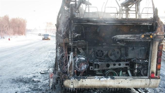 В Нарве сгорели два автобуса