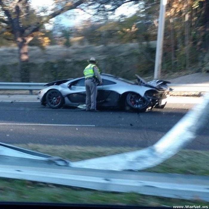 McLaren P1 разбили на следующий день после покупки