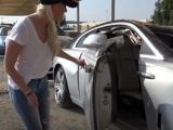 Огромная стоянка с разбитыми и конфискованными суперкарами в Дубае