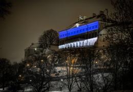 Дом Стенбока окрасился в цвета эстонского флага
