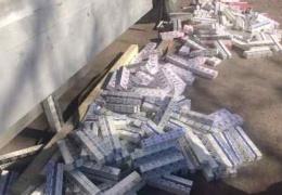 На границе в Ивангороде предотвратили ввоз в Эстонию крупной партии контрабандных сигарет