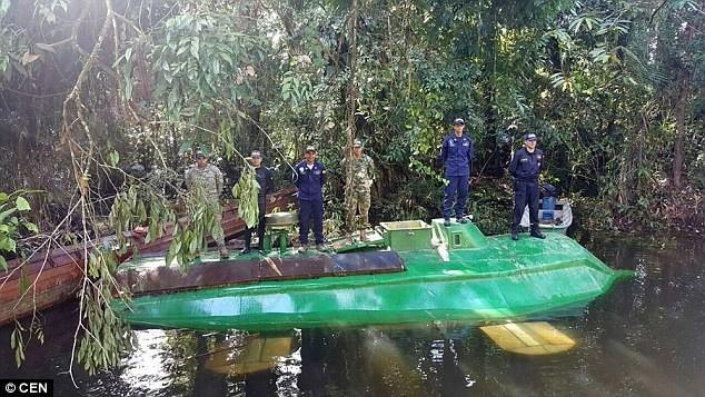 Наркосубмарина: В Колумбии обнаружили электрическую подлодку, способную перевозить 400 кг наркотиков
