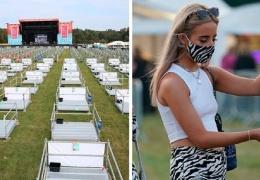 В Великобритании провели концерт с соблюдением социальной дистанции