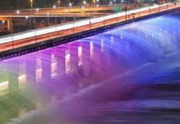 Мост Банпо - фонтан Лунная Радуга в Сеуле