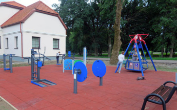 В Нарве построили игровую площадку для детей с особыми потребностями