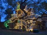 Необычный светящийся домик на дереве для внуков